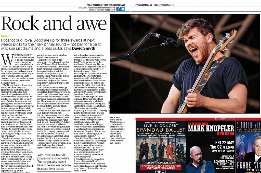 Royal Blood // London Evening Standard