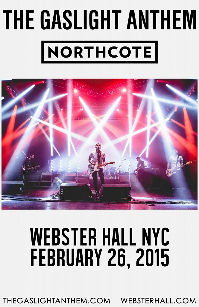 The Gaslight Anthem // Webster Hall NYC Poster
