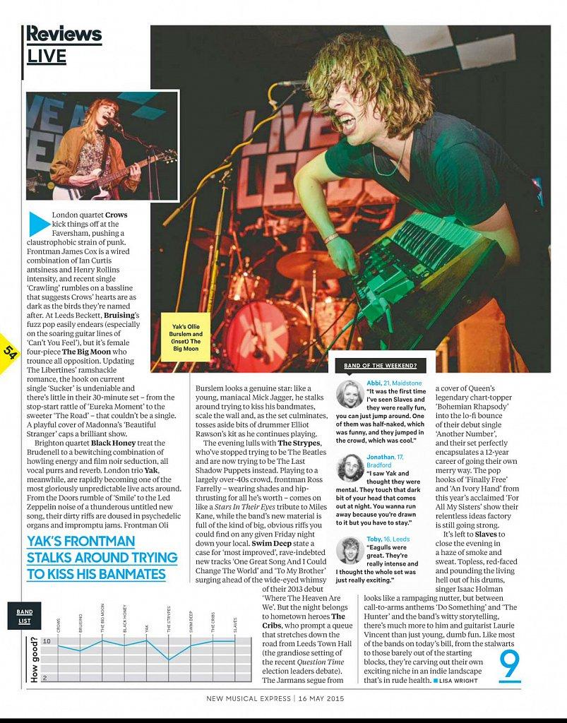 Yak / The Big Moon // NME
