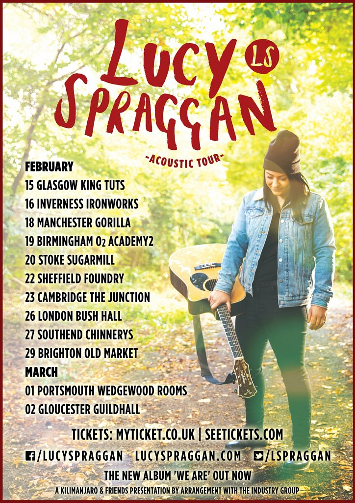 Lucy Spraggan // 2016 Acoustic Tour Poster
