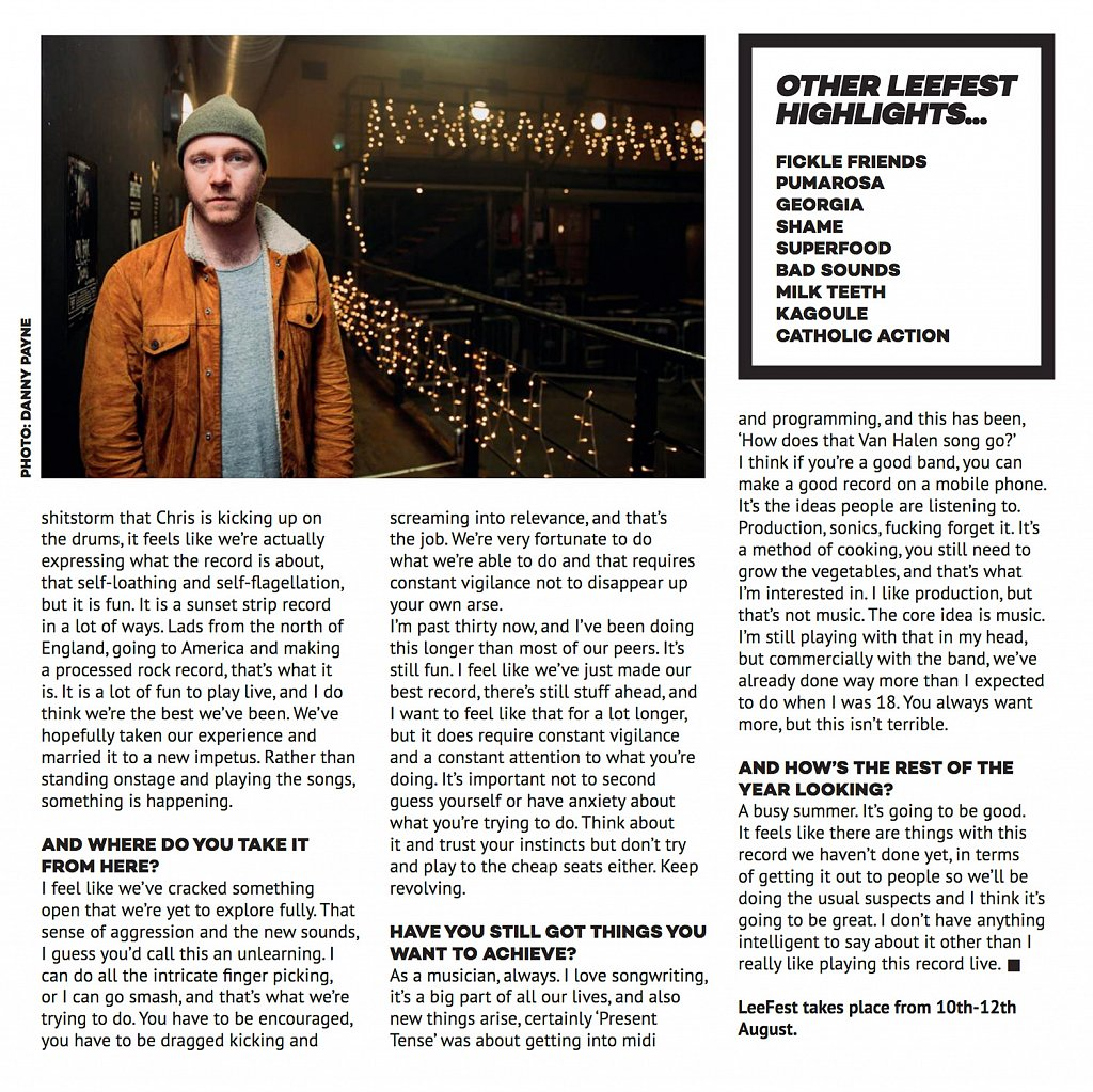 Tom Fleming (Wild Beasts) // Dork Festival Guide