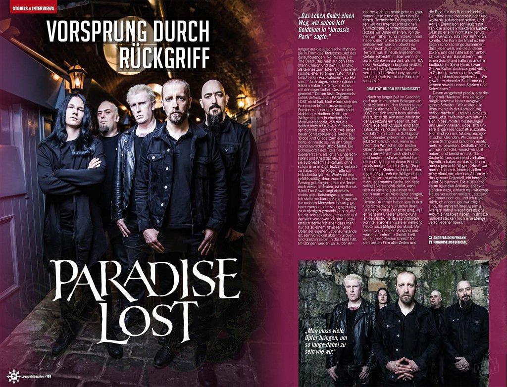 Paradise Lost // Legacy Magazine (Germany)