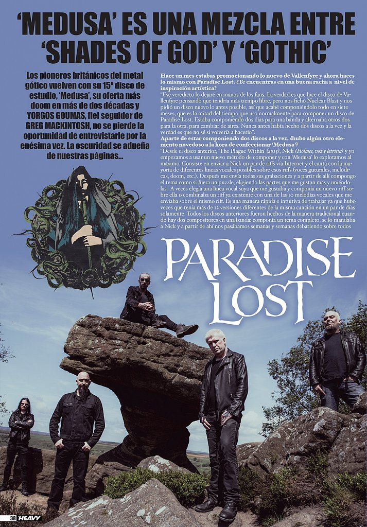 Paradise Lost // La Heavy Magazine (Spain)
