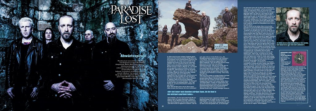 Paradise Lost // Tracks Magazine (Germany)