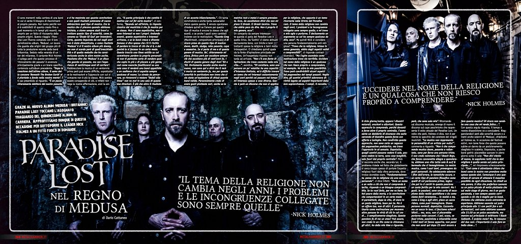Paradise Lost // Metal Hammer Magazine (Italy)