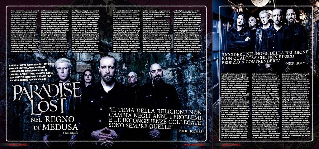 Paradise Lost // Metal Hammer Magazine (Italy)